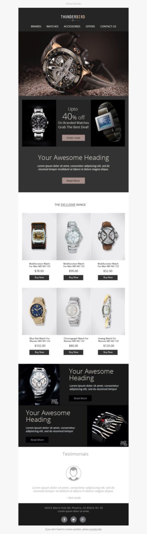 Ultra Responsive and Sales Email Template Sales Responsive
