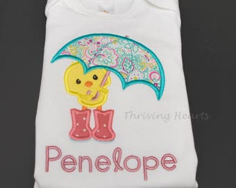 Personalized baby spring chicken onesie/shirt