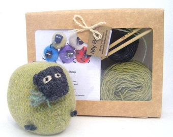 Sheep Knitting Kit, pure wool, Uk Shop, from Scotland, perfect Mothers Day Gift, sheep lovers gift, knitting gift