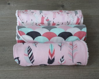 Mixed Flannel Burp Cloths (Set of 3)