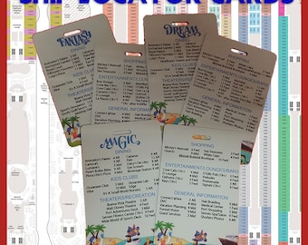 Ship Directory Deck Locator Card - Disney Cruise Line Ship Locator Cards Great Fish Extender Gift FE Gift