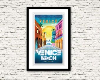 Venice California Print 17x27