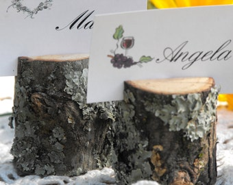 Name Card holders Rustic Tree Branch, rustic table decor, Wedding place holder, Catering - Reunions, Baby shower, Birthday Parties, Meetings