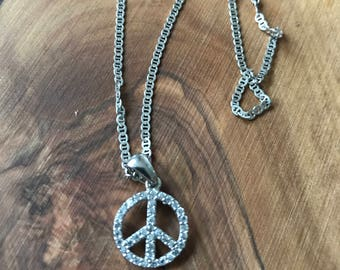 Peace Pendant with Chain.