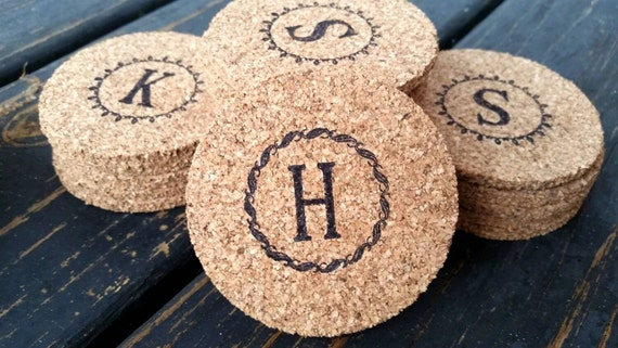 Bulk Cork Coasters, Personalized Bulk Cork Coaster for Wedding Receptions and Parties