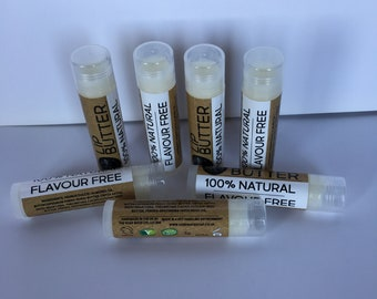 100% Natural Flavour Free Vegan Lip Balm