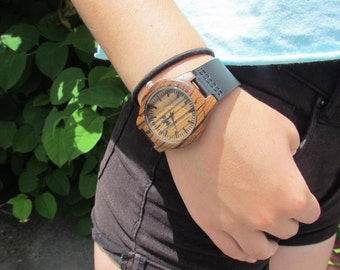 FREE Engraving, Wood Watch, Womens Watch, Gifts for her, Girlfriend Gift, Anniversary Gift, sister , Watch Personnalized, reloj mujer,SM105