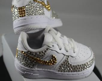 Custom Bling Air Force Ones Bling Tennis Shoes Bling