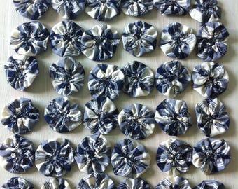 yoyos of fabric for decorating, crafting, set of 12