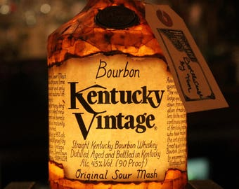 Repurposed Kentucky Vintage Bourbon Bottle Lamp