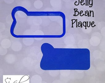 Jelly Bean Plaque Cookie and Fondant Cutter