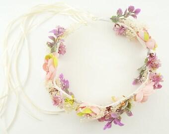 Flower Crown, Bridal Crown, Boho Wedding, Wedding Flower Crown, Flower Headband, Floral Head Wreath, Flower Crown for Brides, Floral Crown