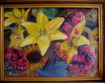 Flower Still Life Oil Painting on Martha's Vineyard