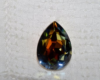 2 pieces 4320 Volcano Pear Shaped 18mm x 13mm Swarovski Crystal Fancy Pear