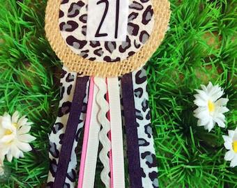 21st Birthday Ribbon Corsage Badge