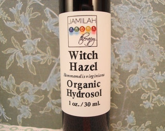 Witch Hazel Hydrosol | Wildcrafted (Organic) | Skin Care | Hydrosol | Soothing Relief | Scrapes | Non-Alcohol | Witch Hazel 1 oz./30 ml.