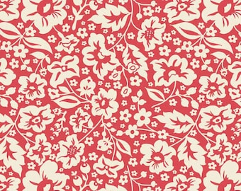 One Yard of Sweetest Floral Red from The Sweetest Thing by Zoe Pearn