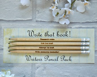 Gifts for writers etsy writers pencils novel writing quotes gifts for writers literary gifts book lover negle Image collections