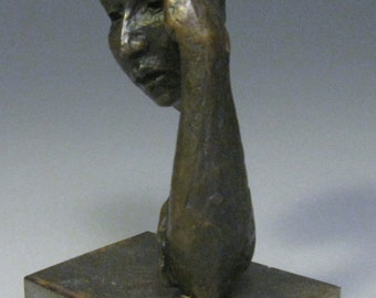 A Mother's Worry / Bronze Figurative Sculpture / Valerie Gilman / Taproot Arts and Insight