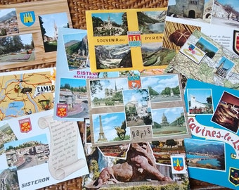 618) set of 11 vintage postcards