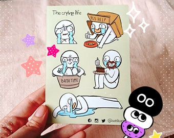 The crying life PRECUT sticker sheet ( A6 size )