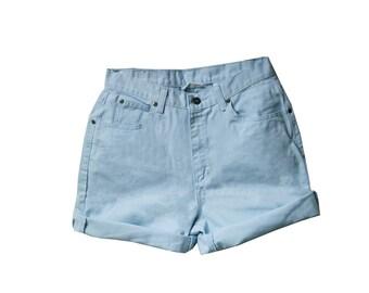 SALE - Light Blue High Waisted Shorts
