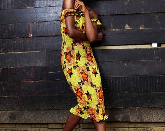 Zukiva Patterned Dress