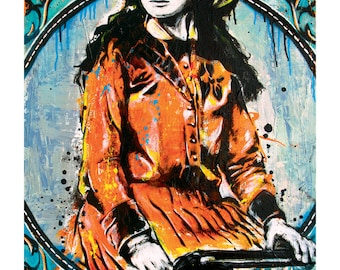 Annie Oakley - Sharpshootin' Cowgirl- 18 x 24 High Quality Pop Art Print