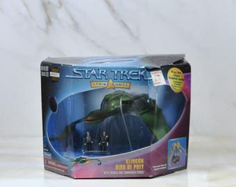 Vintage Star Trek, Strike Force, Klingon, Bird Of Prey, 1997, Valkris, Commander Kruge, Paramount Pictures, Playmates, Action Figure