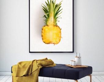 50%OFF,  Pineapple Print Pineapple Wall Art Pineapple Printable Nursery Print Wall Art Pineapple Decor Digital