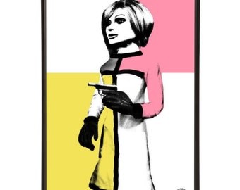 London Agent Lady Penelope Pop Art Print - from Thunderbirds the iconic Gerry Anderson Supermarionation cult TV show