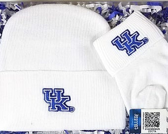 Kentucky Wildcats Newborn Knit Cap and Socks Baby Gift Set