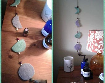 Phases of the Moon hanging