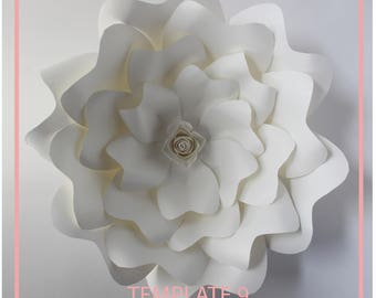 Paper Flower Template, Giant Paper Flower Templates, DIY Paper Flower, PDF Paper Flower, Base and Instruction Including