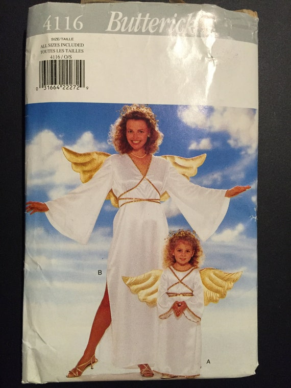 Butterick Sewing Pattern 4116 Childrens and Misses Angel Costume ...