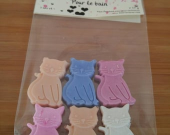 Friends for kittens, mini bath soaps, bath, children, soft to the skin, know colorful, playful