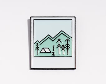 nice pin instant photo // enamel pin // nicenicenice
