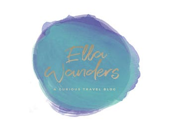 Pre-made Logo Design | 'Ella' | Watercolour Logo | Photography Logo | Blog Header | Business Branding | Branding Design | Custom logo