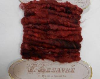 Vintage Hand Spun / Hand Dyed Angora Yarn for Weaving / Basketry / Art or Craft