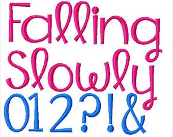 Bogo Free Font, Buy 1 take 1 font, Buy One Take one Font, Falling Slowly Font, Instant Download, 3 Sizes, PES Format
