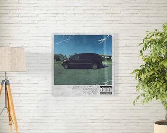 "Kendrick Lamar Good Kid M.A.A.D City - Album Music Cover - American Hip Hop Artist - Rap Singer Art Print - Size 12x12"" 18x18"" 24x24"" 32x32"""