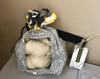 Peek-a-boo Medium Knitting Project Bag
