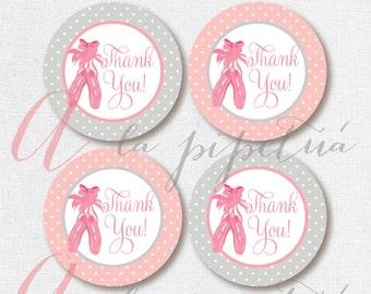 Thank You Favor Tags . Ballerina tags. Printable tag. Ballerina printables. Ballerina Thank you tag. INSTANT DOWNLOAD