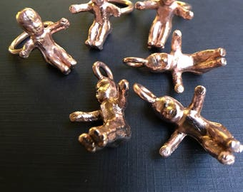 Mardi Gras copper ring or charm. Custom made in your size.