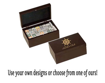 Personalized 92 Domino Game Gift Set