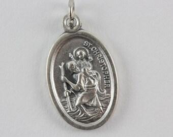 St christopher medal etsy saint christopher pray for us religious medal aloadofball Gallery