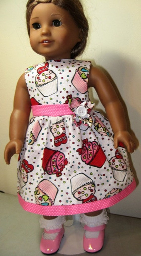 Valentines and Cupcakes Dress for American Girl Doll