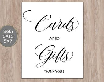 gift table sign template