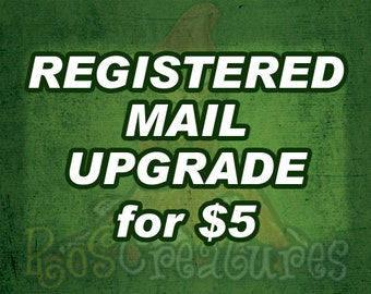 Registered Mail Upgrade - shipping with tracking number