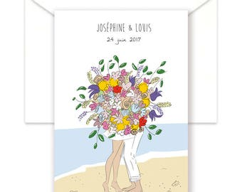 Save the date wedding personalized